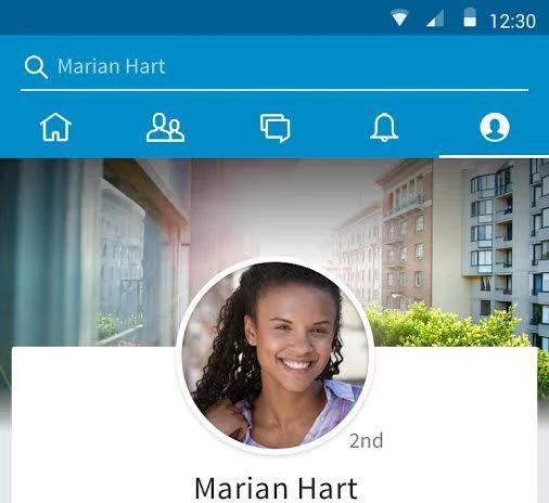 Pantallazo de app Linkedin en Android